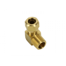 90 DEGREE MALE ELBOW CONNECTOR BRASS COMPRESSION FITTING