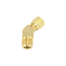 45 DEGREE MALE ELBOW BRASS COMPRESSION FITTING